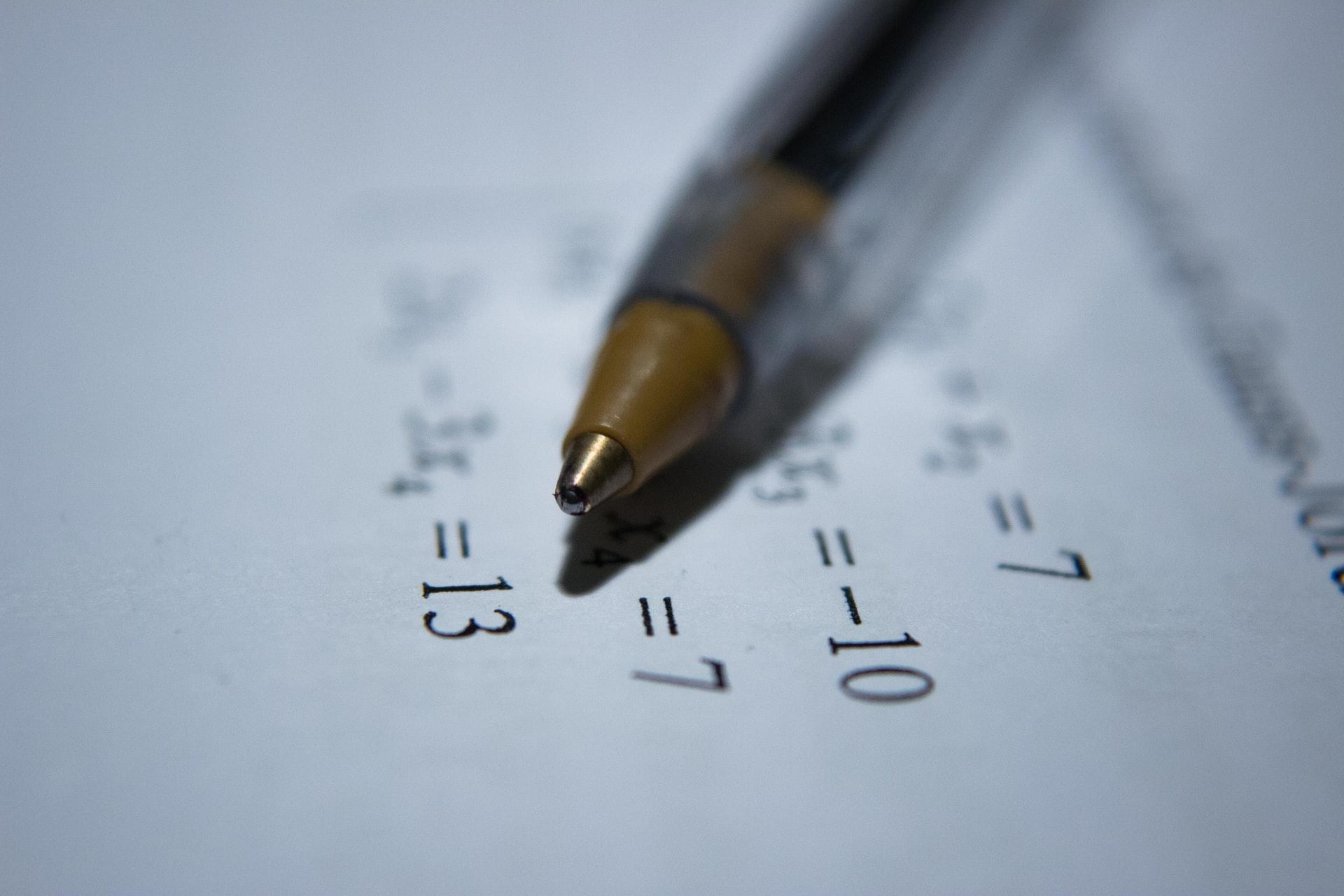 équations de mathématiques