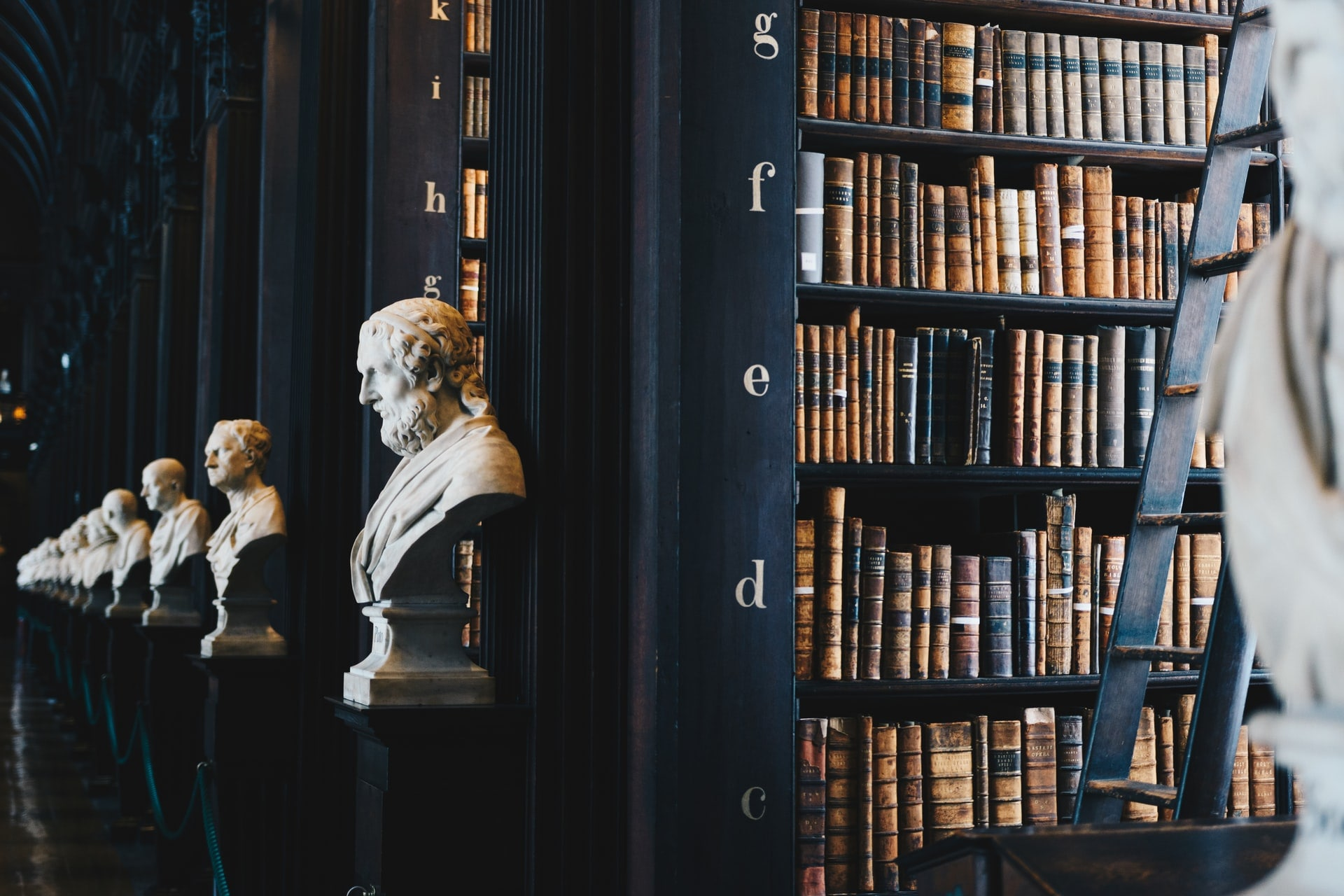 bibliothèque prête à l'étude de la philosophie