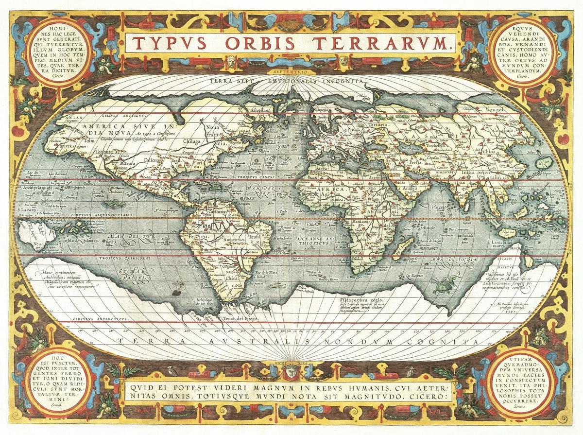 carte du monde pour travailler en géographie