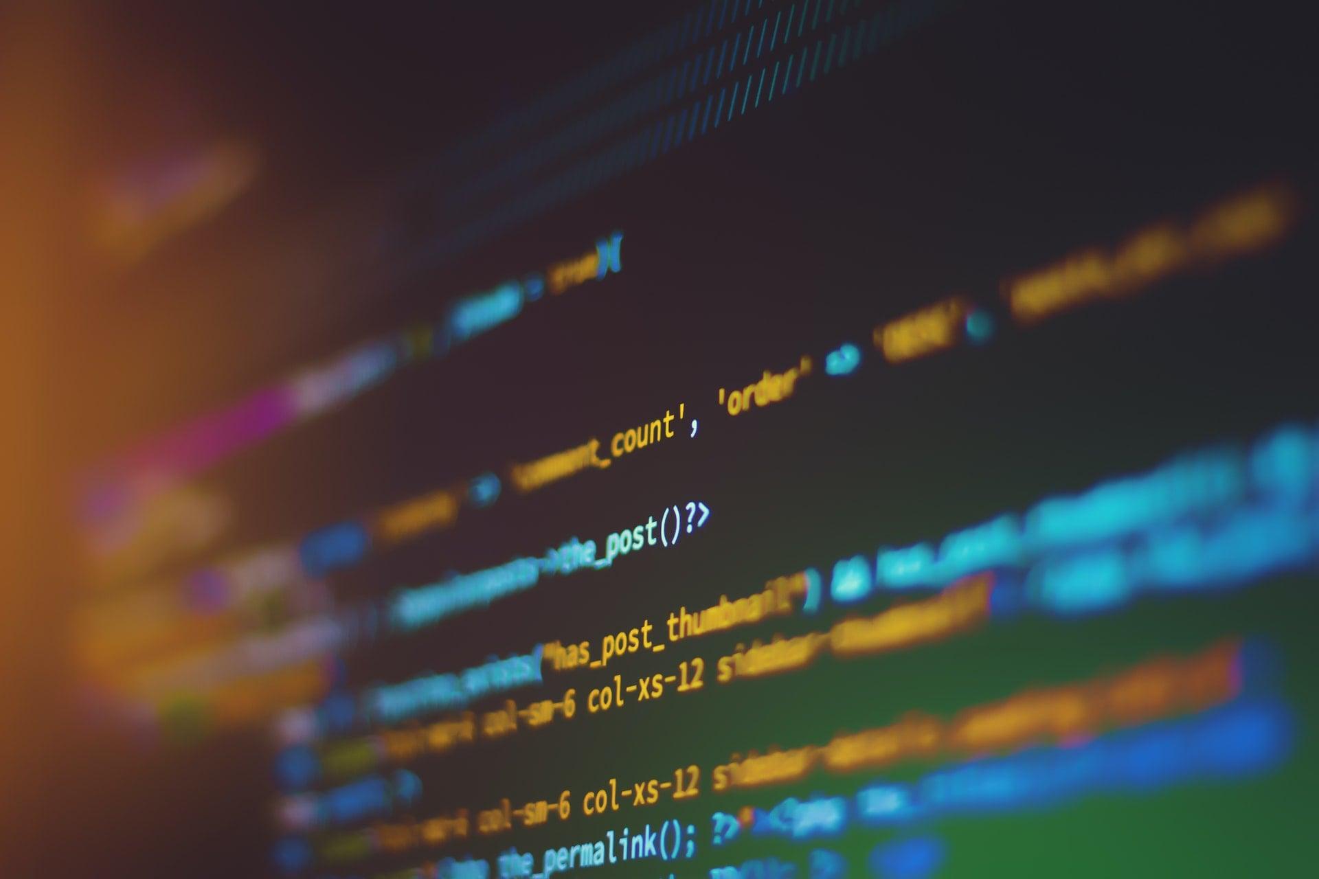 ligne de code informatique de CSS