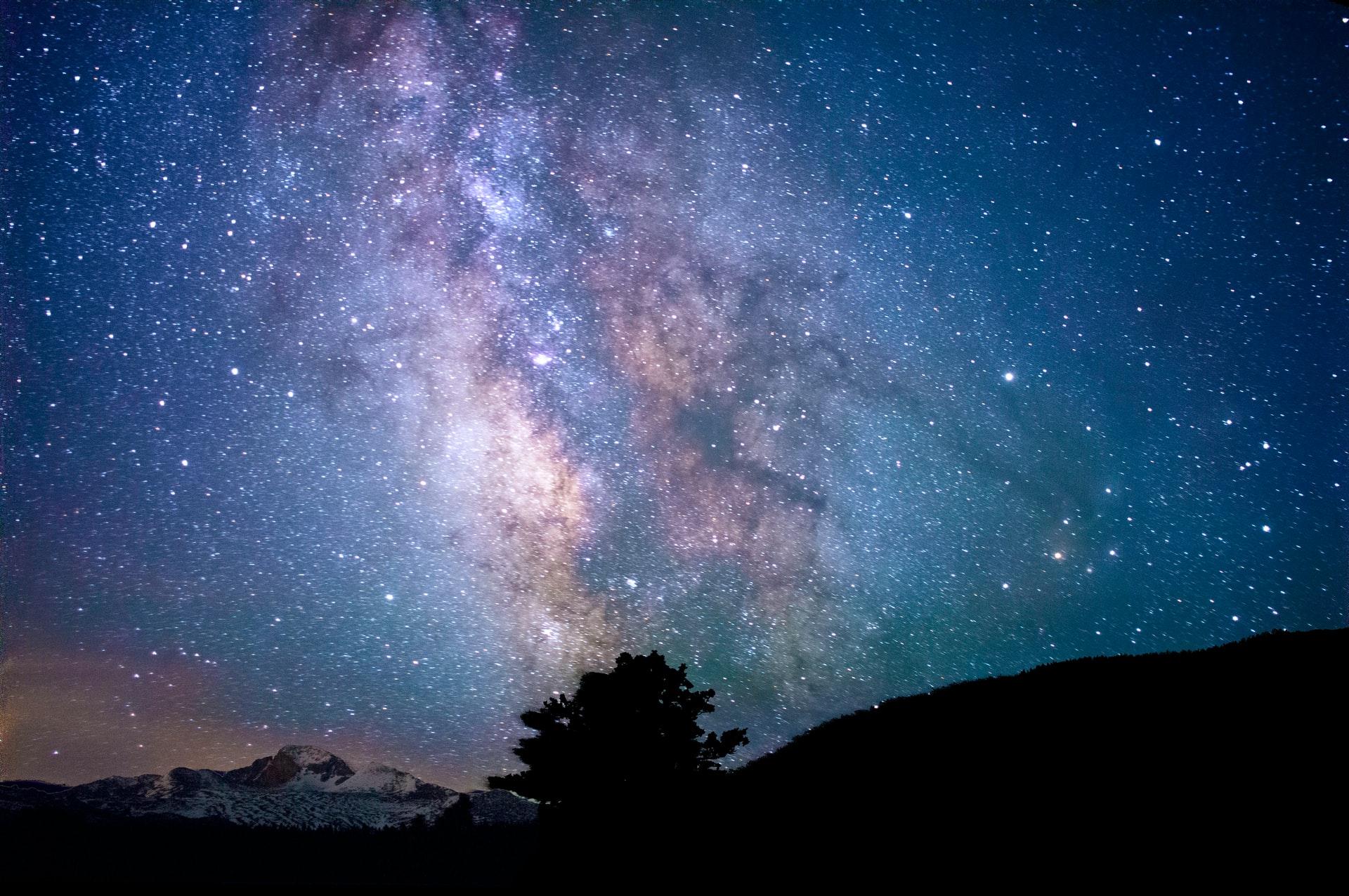 vue astronomique du ciel et des astres