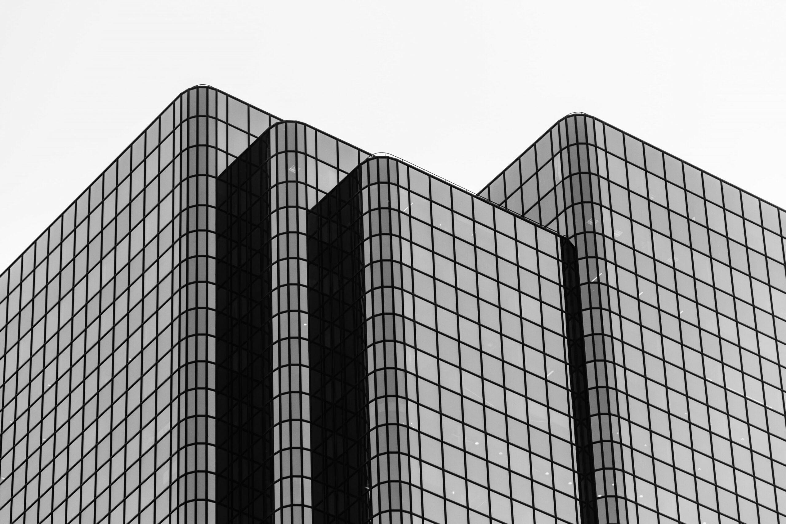 immeuble d'affaires en verre