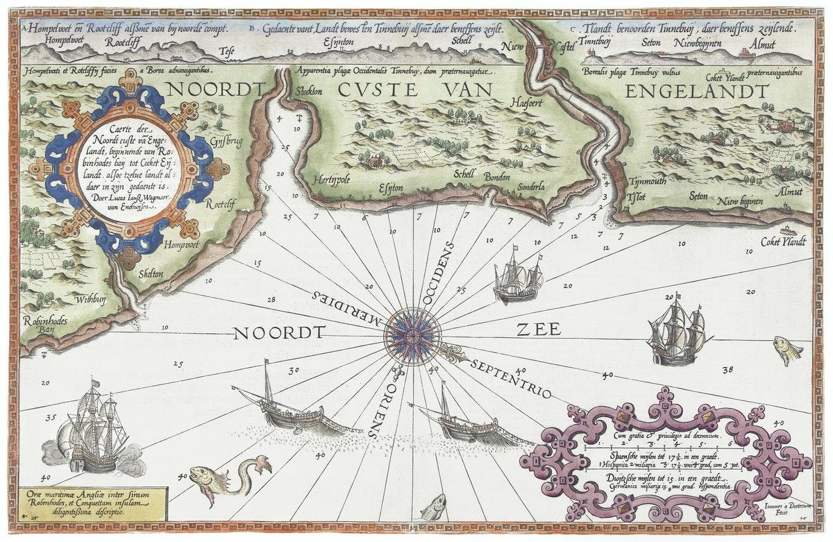 ancienne carte des côtes du sud de l'Angleterre