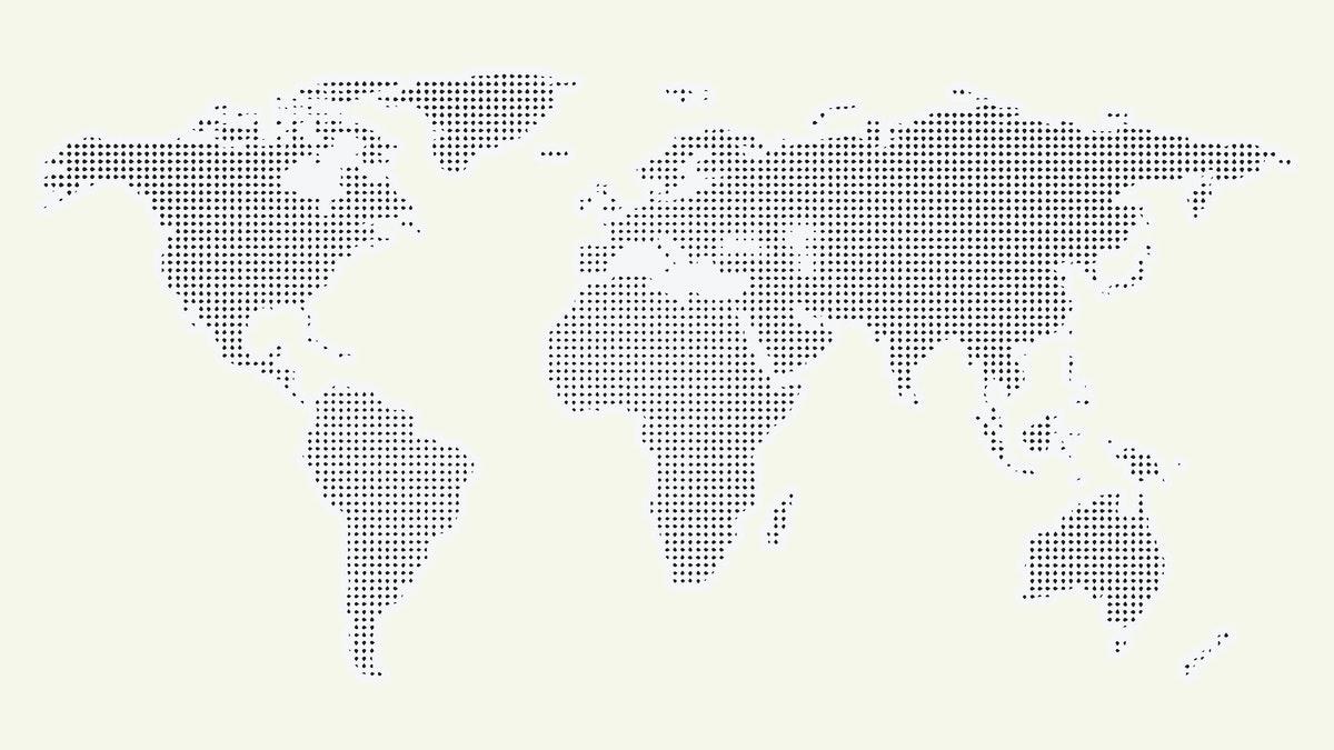 modèle schématique d'une carte du monde