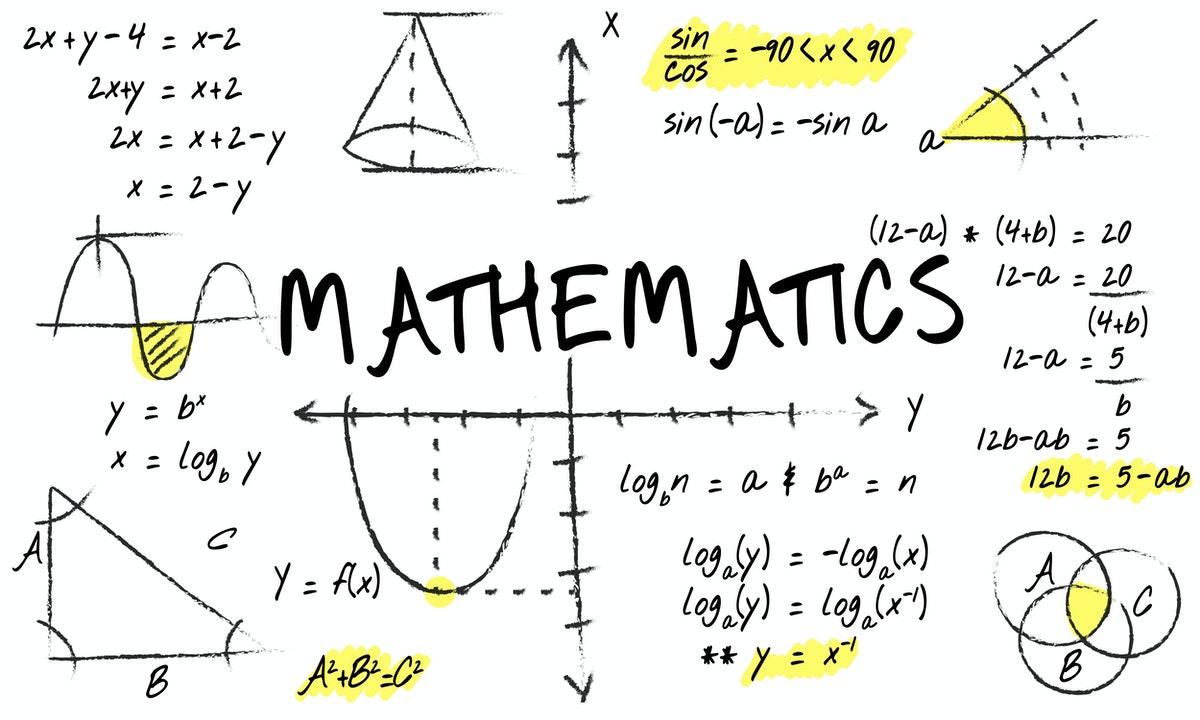un tableau symbolisant tout ce qu'on fait comme type d'exercices en maths