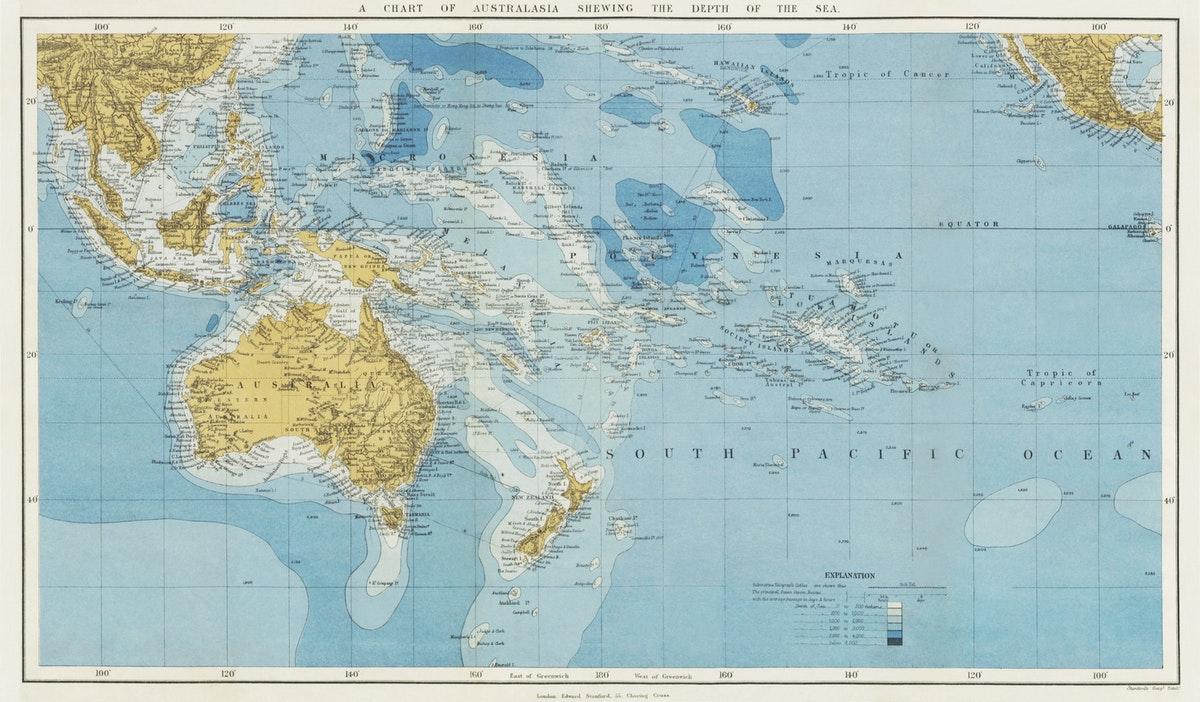 carte de l'Océanie