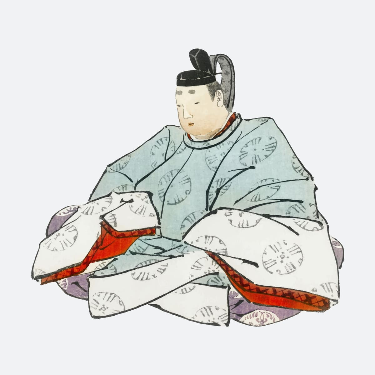 peinture d'un shogun du Japon féodal