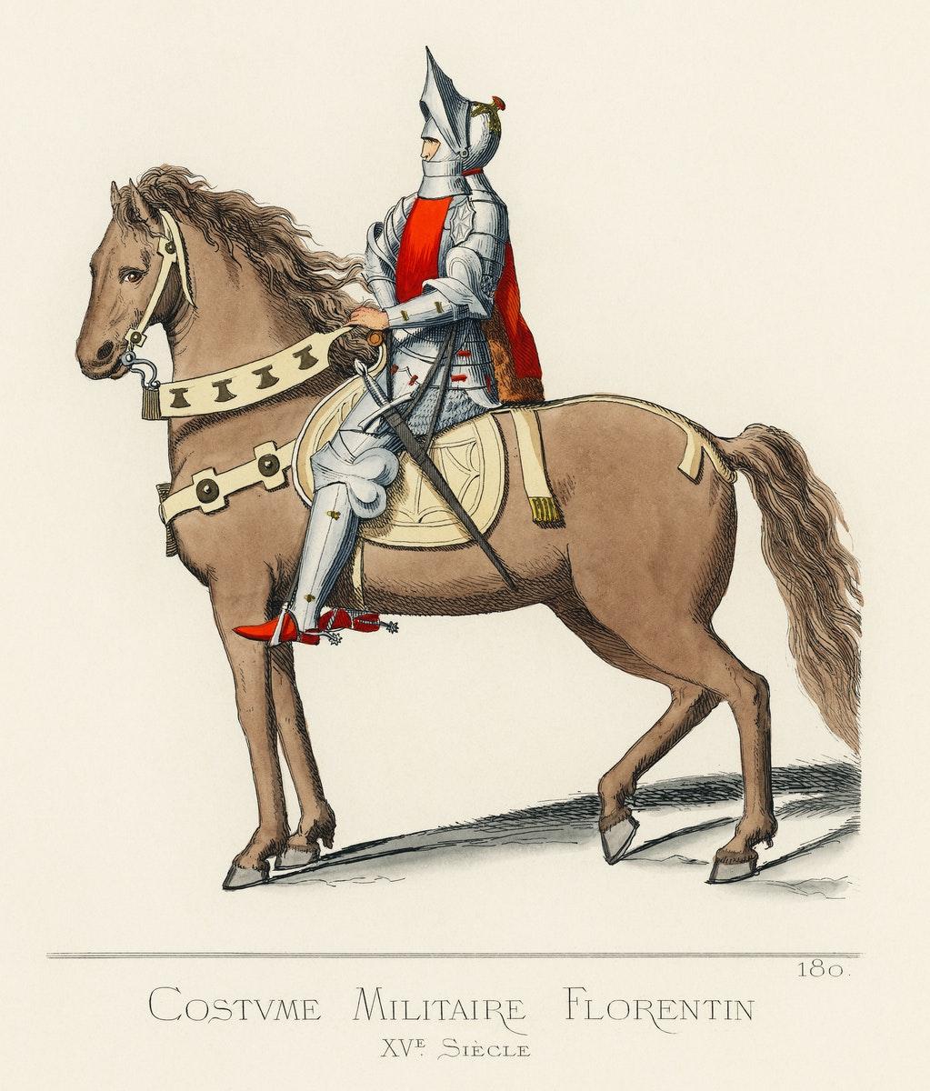 un chevalier italien de Florence du XVe siècle