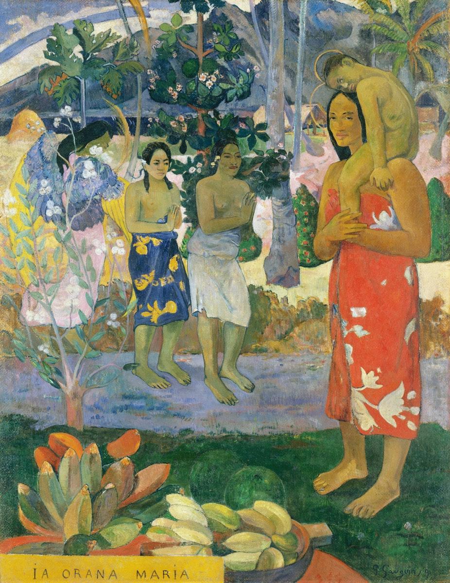"""tableau de Paul Gauguin intitulé """" La Orana Maria """""""