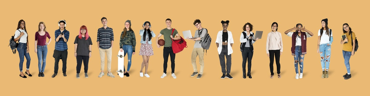 une liste d'élèves de lycée en train de travailler