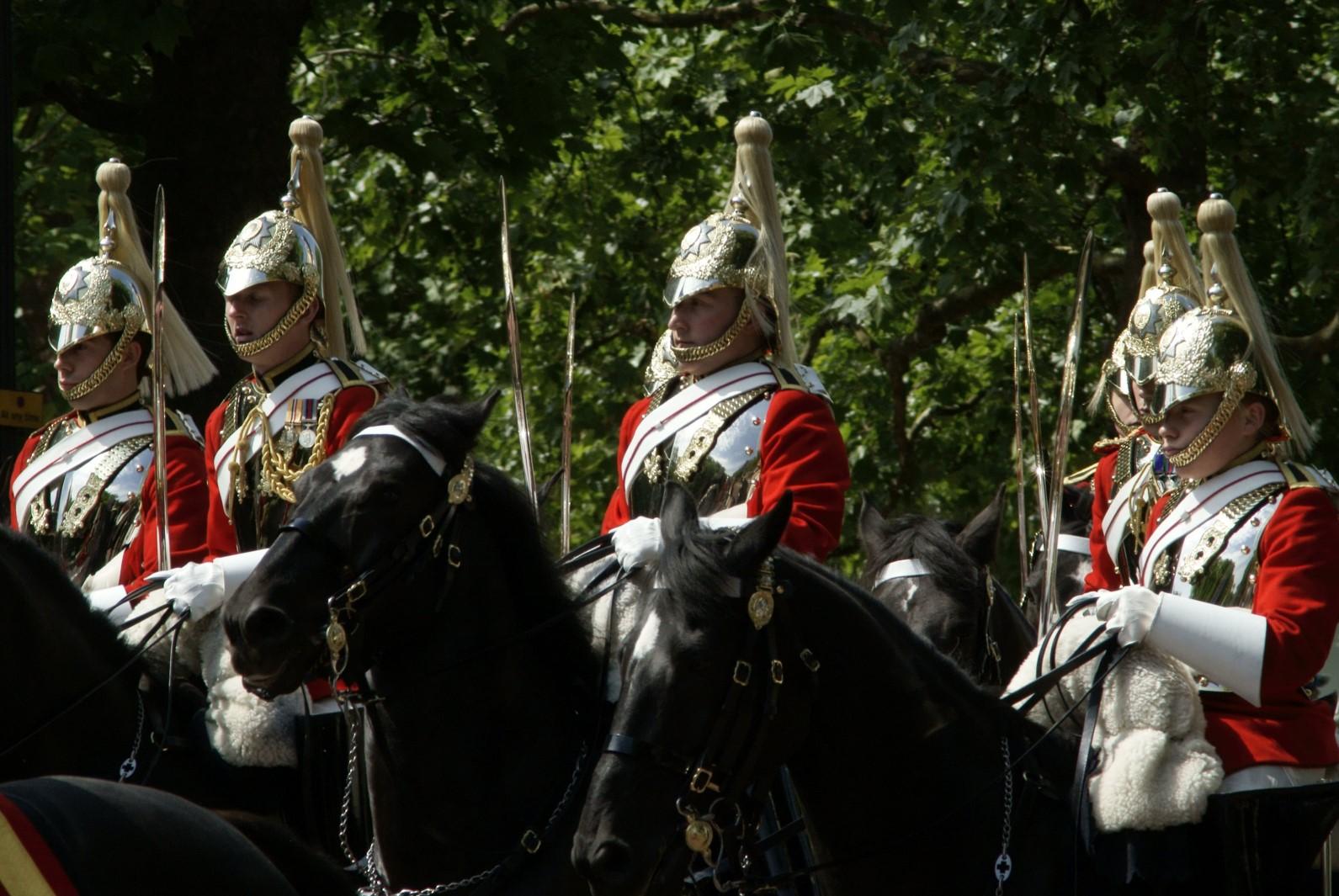 la cavalerie royale d'Angleterre dans Londres