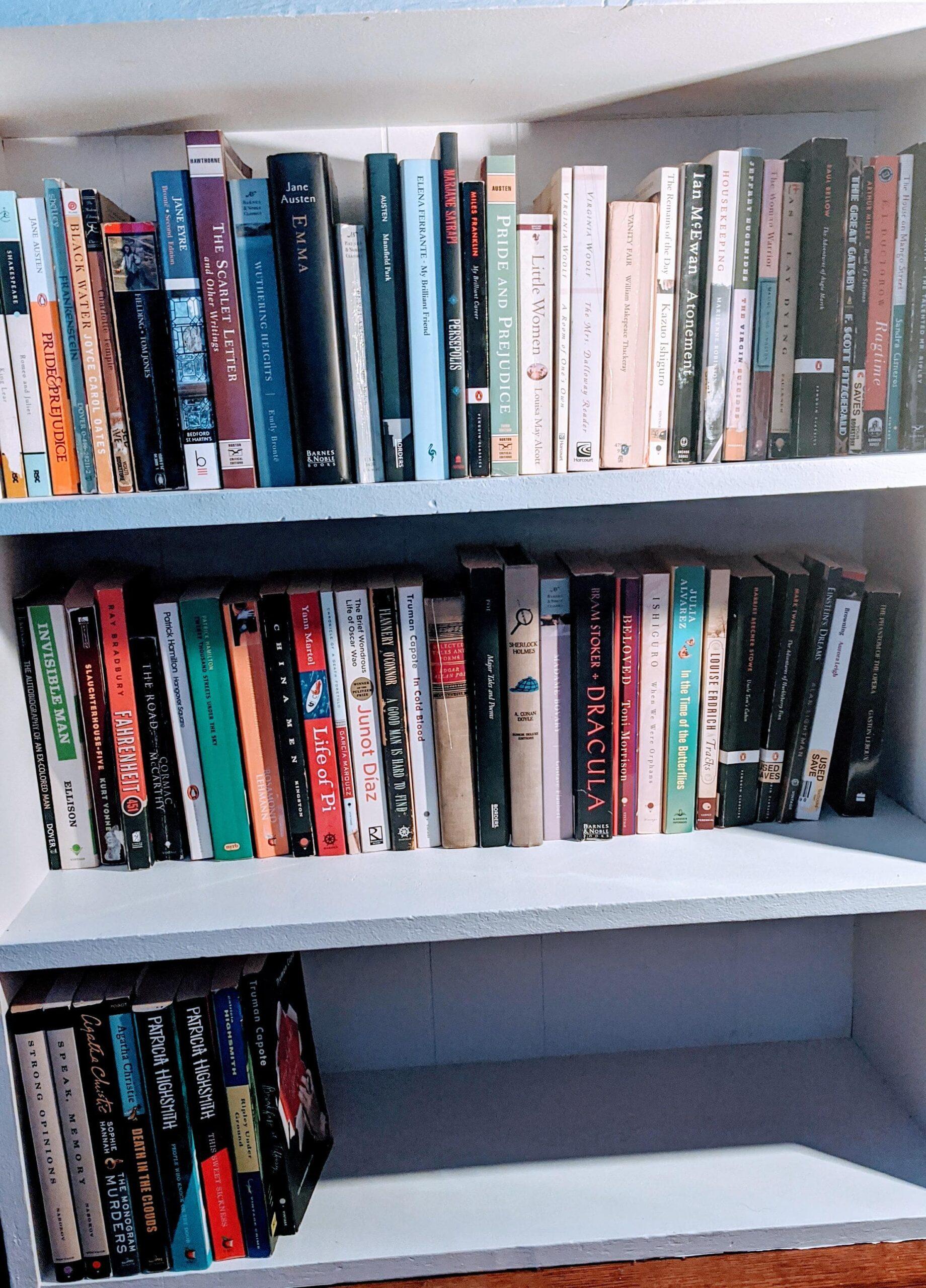 une bibliothèque remplie de livres pour le collège et le lycée