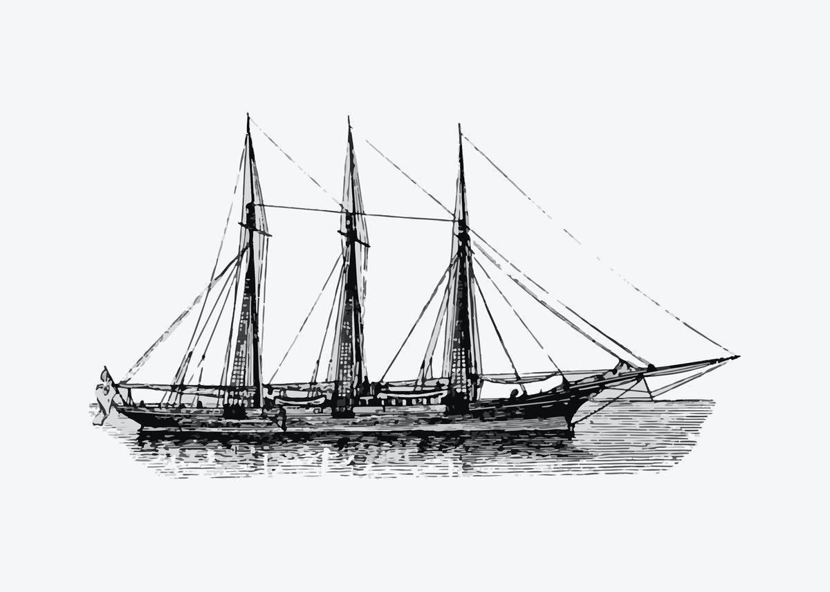 un navire voilier de l'histoire du XVIIIe siècle