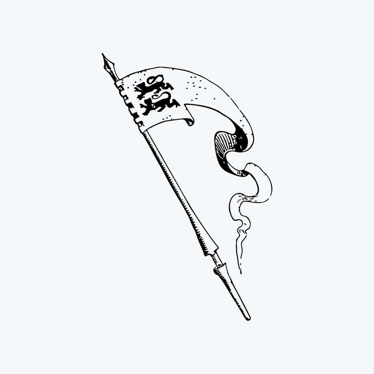 un oriflamme avec le symbole du royaume d'Angleterre