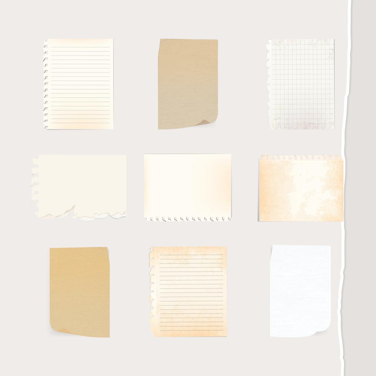des feuilles de papier pour tracer les graphiques de sciences